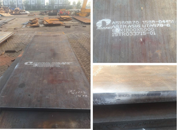Supply 256 tons A516 Grade 70 Steel plate to India